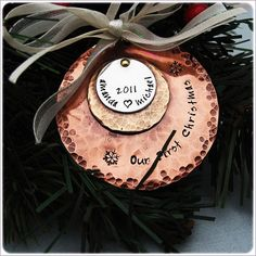 Christmas Together Ornament -- Would work for any number of years together. ;-)