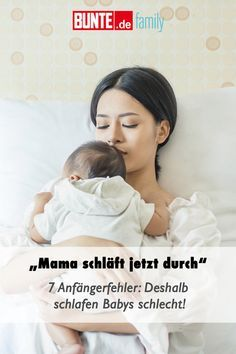 Beginner mistakes: that's why babies sleep poorly-Anfängerfehler: Deshalb schlafen Babys schlecht At last! 1 Week Pregnant, How Many Weeks Pregnant, Baby Kind, Mom And Baby, Baby Love, Mama Baby, Pregnancy Months, Pregnancy Tips, First Trimester