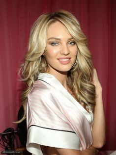 Candice Swanepoel backstage 2013 Victoria's Secret fashion show...I want hair like this!!!