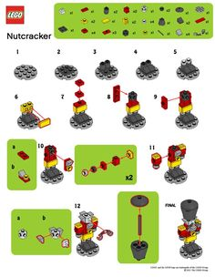 LegoMyMamma: LEGO Nutcracker building instructions - New Ideas Lego Christmas Ornaments, Lego Christmas Village, Lego Winter Village, 3d Christmas, Lego Disney, Lego Advent Calendar, Lego Minecraft, Lego Lego, Minecraft Buildings