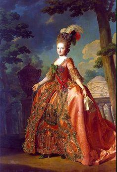 Grand Duchess Maria Feodorovna in 1777  by   Alexander Roslin ( 1718 – 1793) was a Swedish portrait painter.