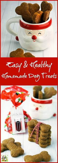 Looking for an easy homemade gift recipe for someone with a dog? Click to get this Easy & Healthy Homemade Dog Treats recipe. AD @walmart #BestofBaking