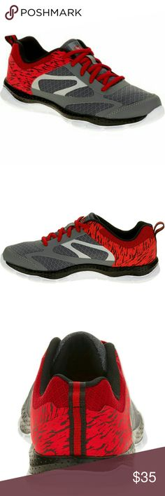 Athletic Works Boy Shoe's ATHLETIC Work's Boy Shoe's, color Grey/Red, Size 5  Brand New, Never worn, NWOT.  Very nice looking shoe's. Lightweight, Flexible Outsole. Have any questions before purchase, just ask and I'll try to answer!!! ATHLETIC Works Shoes Sneakers