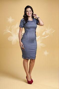 Vestido Navalha - Bella Herança - Moda Evangélica e Roupa Evangélica: Bela Loba