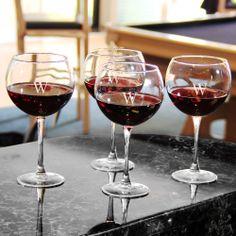 Custom Engraved Red Wine Glasses (Set of 4) | Overstock.com Shopping - Great Deals on Wine Glasses