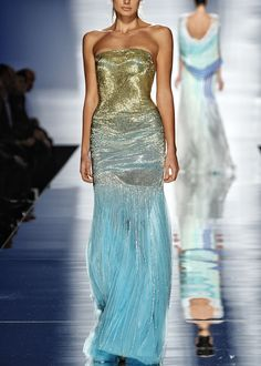 Haute Avenue Paris Rami Al Ali  --  Oh, I love this!  It's like a turquoise sea lapping at golden sands.