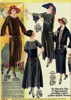 Stylish 1920s dress options for those who didn't veer down the flapper path. vintage #fashion #1920s #dress