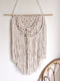 Macrame Wall Hanging, Macrame, Wall Decor, Wedding Decor, Bohemian, Wall Hanging, Modern Macrame, Weaving, Tapestry, Knotted Tapestry, by MaisyandAlice on Etsy
