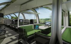 Mercury is a double-decker train with a unique interior design that we believe…