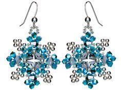Shimmering Snowflake Earrings