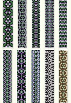 Geometric peyote patterns