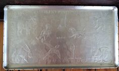 Vintage ABC Aluminum Tray by ContemporaryVintage on Etsy