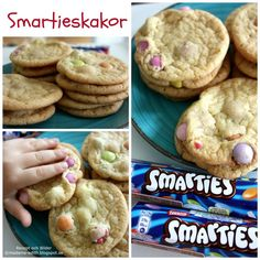 Smartieskakor Swedish Cookies, Food Cakes, Tart, Cake Recipes, Desserts, Cakes, Tailgate Desserts, Deserts, Pie
