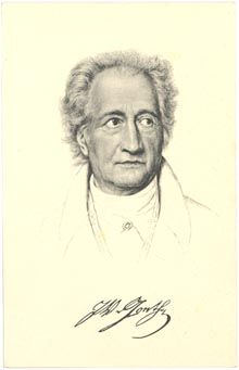 "Johann Wolfgang von GOETHE, by Joseph Karl STIELER  ""A man sees in the world what he carries in his heart.""~Goethe"