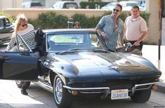 Bruce Springsteen and his 1964 Corvette Sting Ray