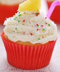 Pina-Colada Cupcake Booze-infused Cupcakes to Lift Your Spirits   Yummly