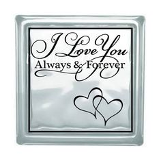 Owl Love You Forever Glass Block Decal Block Deco - Glass block vinyl decals