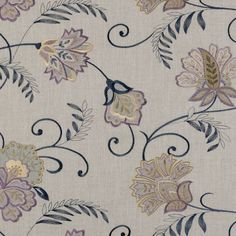 Blue and purple floral fabric Cozy Bedroom, Master Bedroom, Floral Fabric, Spare Room