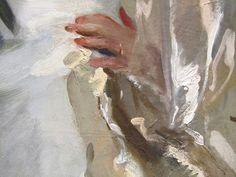 John Singer Sargent 1897 Mrs. George Swinton - Elizabeth Ebsworth detail