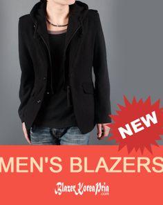 New Blazer Korea Pria Casual Hoodie