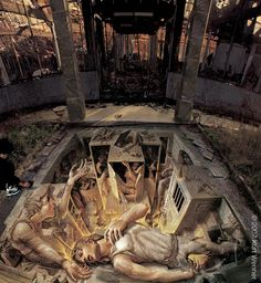 By Kurt Wenner. Lots of mythology and humanity's worst nightmares. Fantastic art though!