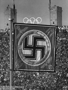 Führer Pennant in the Berlin Olympic Stadium during the Olympic Games 1936 Olympics, Berlin Olympics, Summer Olympics, History Of Germany, Germany Ww2, The Third Reich, Olympic Games, World War Two, Wwii