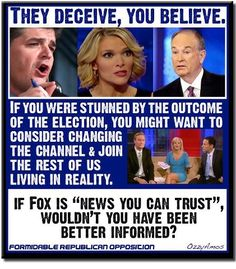 Fox won a court case that says they don't have to be truthful in their reporting, so try not to be surprised by their lies if you willfully choose to keep listening.