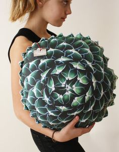 Spring Succulent decorative pillow made to order by Plantillo