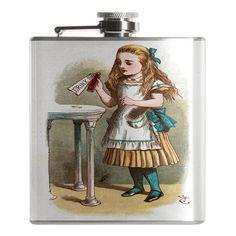 Drink Me Alice in Wonderland Flask - Follow us down the rabbit hole at FalstaffTrading!