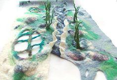 Felted scarf - Stones and Grass | Galina Blazejewska | Flickr