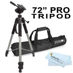 "Professional PRO 72"" Super Strong Tripod With Deluxe Soft Carrying Case Bundle.  Also this for certain said son..."