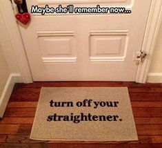I need one of these rugs.  I always forget to unplug my straightner :/