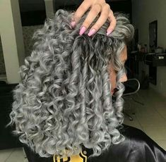 Hair color morena website 55 ideas Source by Grey Curly Hair, Colored Curly Hair, Curly Hair Cuts, Wavy Hair, Dyed Hair, Curly Hair Styles, Natural Hair Styles, Long Curly, Best Ombre Hair