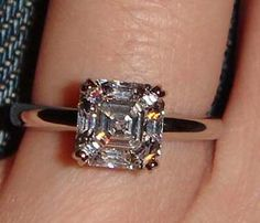 Asscher Engagement Ring pic...looks almost like mine (except not sure if the size is the same since I'm a lucky girl) <3