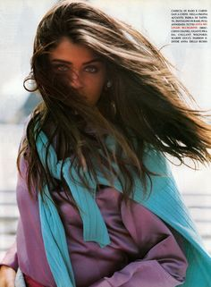 "Helena Christensen, ""Tutti Frutti"" Vogue IT August 1991 She Is Gorgeous, Most Beautiful Women, Helena Christensen, Michael Hutchence, 90s Models, High Fashion Photography, Tutti Frutti, Bad Hair Day, Celebrity Photos"