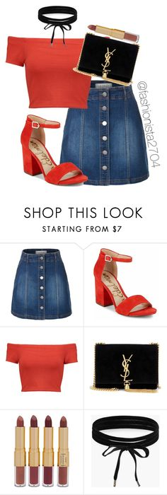 """""""Untitled #275"""" by fashionista2704 on Polyvore featuring LE3NO, Sam Edelman, Alice + Olivia, Yves Saint Laurent, tarte and Boohoo"""