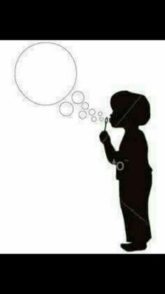 Boy Blowing Bubbles in silhouette Royalty Free Stock Vector Art Illustration Silhouette Cameo, Silhouette Clip Art, Silhouette Images, Silhouette Portrait, Shadow Silhouette, Blowing Bubbles, Crafts For Boys, Vector Art, Illustration