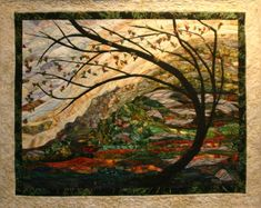 Wind on Grandfather - Murray Johnston quilts - Grandfather Mountain, North Carolina Amazing - all the work on the site!