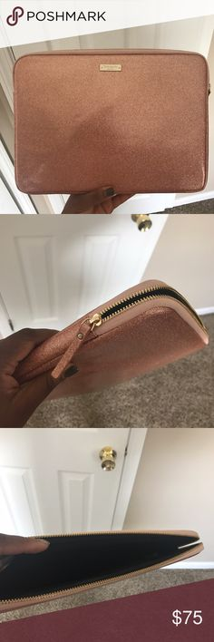 """Rose Gold Kate Spade 13"""" MacBook Case Sparkly Kate Spade case, in great condition. Nothing is wrong with it, just want a different one! Accessories Laptop Cases"""