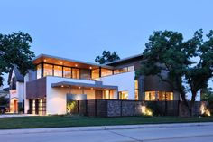 "Houston-based Architectural firm StudioMET has designed the Underwood House project. This two story, 5,500 square foot home is located in Houston, Texas, USA.                      Underwood House by StudioMET: ""Taking advantage of a corner lot, the Underwood House marries interior and exterior spaces that feature fire, water and rock garden landscapes.  After entering the gate and stepping across a water feature, views of the double island kitchen, interior and exterior living spaces and ..."