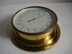 NAUDET Marine HOLOSTERIC  BAROMETER -  BRASS - Made in FRANCE