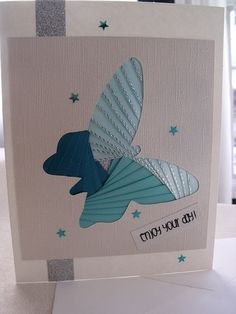 handmade iris fold   card  enjoy your day by sayitwithblooms, $7.00