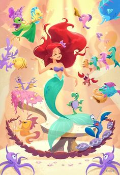 Under the Sea, Ariel, The Little Mermaid Disney Magic, Walt Disney, Cute Disney, Disney Dream, Ariel Mermaid, Ariel The Little Mermaid, Mermaid Art, Ariel Ariel, Princesa Ariel Da Disney