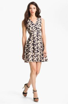 Eliza J Print Fit & Flare Dress | Nordstrom