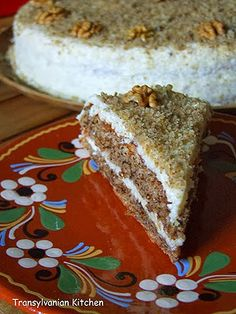 Walnut Cake by Transylvanian Kitchen Romanian Desserts, Russian Desserts, Romanian Food, Romanian Recipes, Cake Recipes, Dessert Recipes, Walnut Cake, Hungarian Recipes, Cakes And More