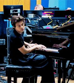 Harry playing the piano  BTA - The Performances
