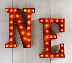 Marquee Light Up Letters | Pottery Barn Kids  Nobles room   N