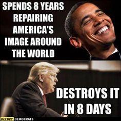 I miss President Obama's intelligence and integrity