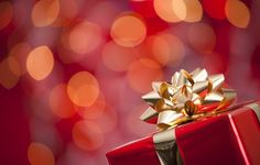 Wallpaper New Year, holidays, box, gift, gift, winter, gold, red ...