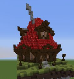 A little Mushroom house I made awhile ago : Minecraft Minecraft crafts Minecraft creations Minecraft castle